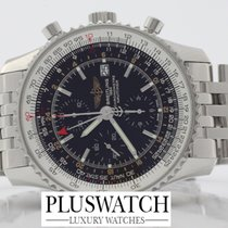 Breitling Navitimer world steel Black A2432212 / B726 / 443A   A4
