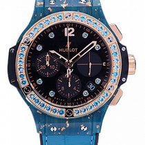 Hublot Big Bang Gold Linen Blue 41mm 341.XL.1280.LR.1207