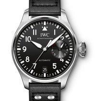 IWC IW500912 Big Pilot Mens Automatic in Steel - On Black...