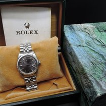 Rolex DATEJUST 1601 SS ORIGINAL Purplish Grey Dial with Box...
