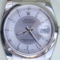 Rolex Datejust Mens Steel Watch Perfect Complete Box Booklets...