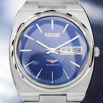Tugaris Mens Rare Automatic 1970s Vintage Swiss Made Stainless...