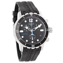 Tissot Seastar Mens Black Rubber Swiss Quartz Watch T066.417.1...
