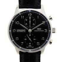 IWC Portuguese Chronograph Stainless Steel Black Automatic...