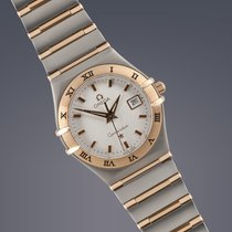 Omega ladies Constellation stainless steel and gold quartz watch