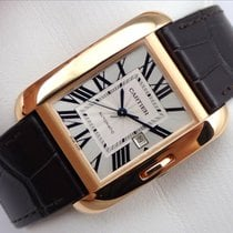 Cartier Tank Anglaise Large Model in Pink Gold