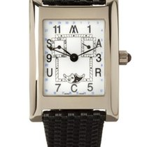 Marcus Watch 18ct White Gold Rectangle White/Black