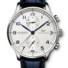 IWC PORTOGHESE CHRONOGRAPH 41mm SILVER DIAL IW371446