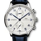 IWC PORTOGHESE CHRONOGRAPH 41mm SILVER DIAL IW371446 T