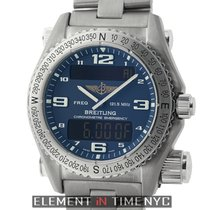 Breitling Emergency SuperQuartz Titanium 43mm Blue Dial 2009