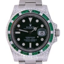 Rolex Submariner Hulk Emeralds and  Diamonds Custommade