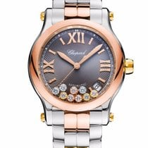 Chopard Happy Sport 18K Rose And Yellow Gold, Stainless Steel...