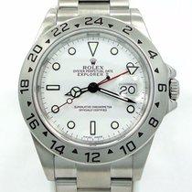 Rolex Explorer II 16570 Gmt Date White Dial Men's Watch No...