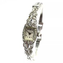 Benrus Platinum & 14k White Gold Ladies Watch W Factory...