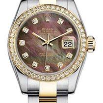 Rolex Women's New Style Two-Tone Datejust with Custom Dark...
