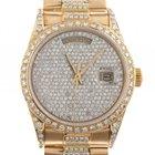 Rolex Day Date Gelbgold Full Diamond Automatik Armband...