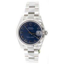 Rolex Datejust 178274 Midsize New Heavy Oyster Band with Blue...