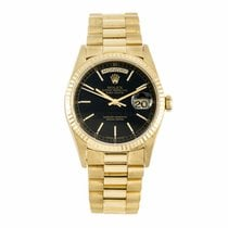 Rolex Day-Date President Gold Black Dial 18238 (Pre-Owned)