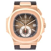Patek Philippe Nautilus 5980R Rose Gold & Leather