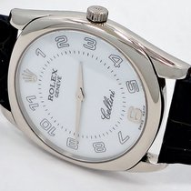 Rolex Cellini Danaos 18k White Gold White Dial On Leather Band...
