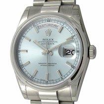 Rolex : Day-Date President :  118206 :  Platinum : blue...