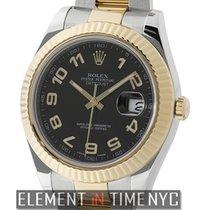 Rolex Datejust II Steel & Gold 41mm Black Arabic Dial