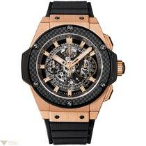 Hublot Big Bang King Gold Power Unico Rubber Men`s Watch