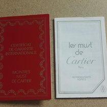 Cartier vintage warranty booklet papers blanc Must de Cartier...