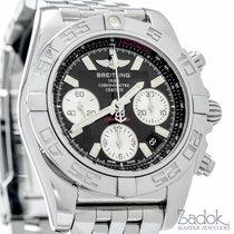 Breitling Chronomat 41 Black Dial Stainless Steel Chronograph...