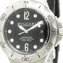 Bulgari Polished  Diagono Scuba Aqua Steel Automatic Mens...