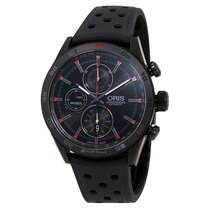 Oris Audi Sport Black Dial Men's Chronograph Rubber Watch