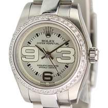 Rolex Oyster Perpetual Steel 26mm Watch with Custom Diamond...