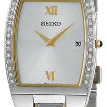 Seiko Diamond Two-Tone Stainless Steel & Gold tone Mens...