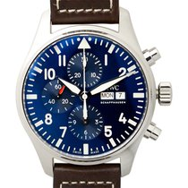 萬國 (IWC) Pilots Stainless Steel Blue Automatic IW377714