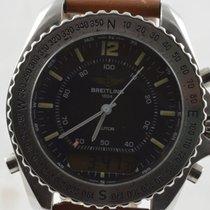 Breitling Pluton Herren Uhr Stahl 42mm A51037 Vintage Rar...