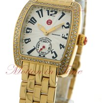 Michele Urban Mini, Silver Dial, Diamond Bezel - Yellow Gold...