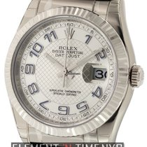 Rolex Datejust 18k White Gold 36mm Silver Dial