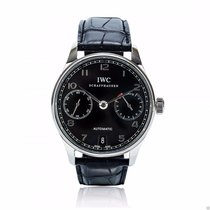 IWC Portuguese Automatic IW500109 Stainless Steel Black Dial New