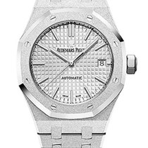 Audemars Piguet Royal Oak Quartz 18K Frosted White Gold Ladies...