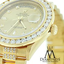 Men's Used Rolex President Gold Day-date 18038 Diamond...