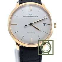 Girard Perregaux 1966 41mm Pink Gold Crocodile Strap NEW