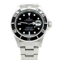 Rolex Stainless Steel Rolex Submariner with Black Dial Watch