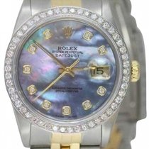Rolex Datejust Women's 36mm Blue Mother Of Pearl Dial Gold...