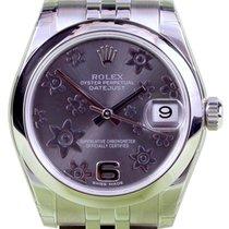 Rolex Datejust 178240 Floral Dark Rhodium Arabic Jubilee...