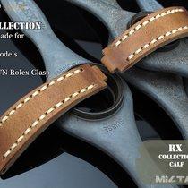 MiLTAT For Rolex Submariner & Explorer Brown Leather Strap