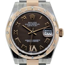 Rolex Datejust 31mm Steel & Everose Gold 24 Diamonds Bezel
