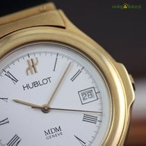 Hublot MDM 18K Yellow Gold 36mm Automatic Watch  White Face