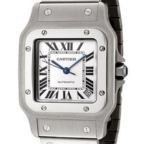 Cartier W20098D6 Santos Galbee XL 46MM Silver SQ Dial Men...