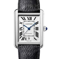 Cartier WSTA0029 Tank Solo XL in Steel - on Black Grained...