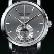 Paul Picot FIRSHIRE  RONDE moon phase cash steel ddial grey...